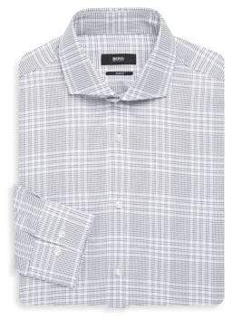 BOSS Regular Fit Large Plaid Dress Shirt