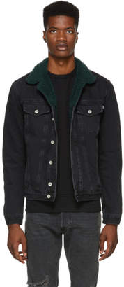 Diesel Black Denim D-Gioc-Fur Jacket