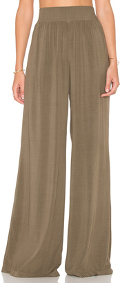 Michael Stars High Waisted Wide Leg Pant $118 thestylecure.com
