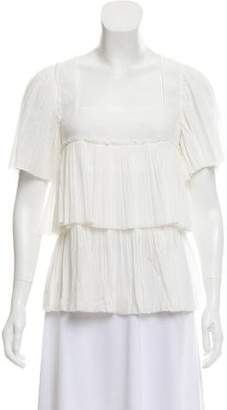 Sonia Rykiel Pleat Short Sleeve Top