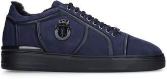 Billionaire Crest Shearling Sneakers