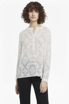 French Connection Edna Fil De Coupe Collarless Shirt