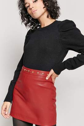 Forever 21 Studded Faux Leather Skirt