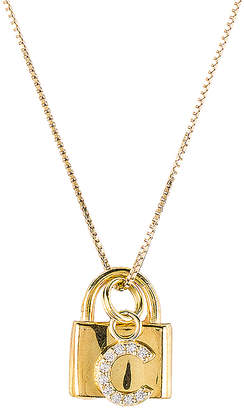 The M Jewelers NY The Lock C Initial Necklace