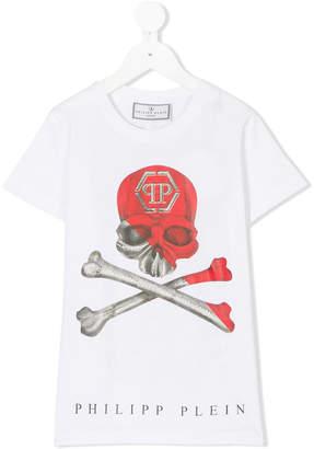 Philipp Plein Junior skull logo t-shirt