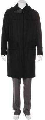 Valentino Leather-Accented Wool Coat w/ Tags
