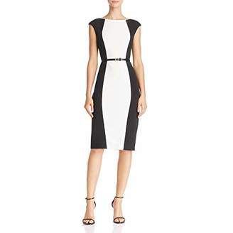Adrianna Papell Women's Knit Crepe Sheath Dress