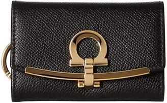 Salvatore Ferragamo Icona Ganchio Leather Key Case