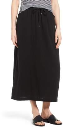 Eileen Fisher Drawstring Organic Cotton Midi Skirt