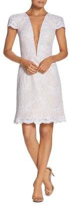 Dress the Population Cecilia Illusion Plunge Dress