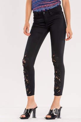 Miss Me Lace Ankle Skinny Jean