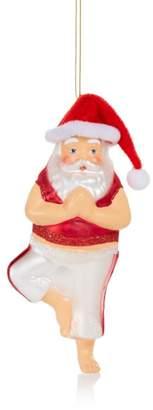 Bloomingdale's Yoga Santa Glass Ornament - 100% Exclusive