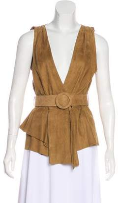 Drome Leather Suede Top w/ Tags