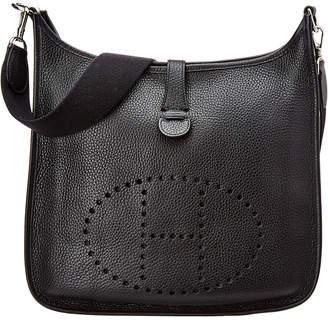 Hermes Black Clemence Leather Evelyne I Gm