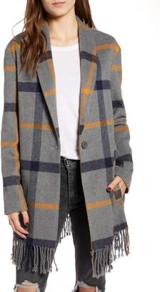 BB Dakota Elementary Plaid Coat