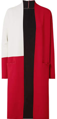Haider Ackermann Color-block Stretch-knit Cardigan - Claret