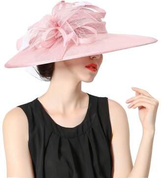 Koola's Hats Ladies Hand-made Silk Ribbon Headdress Marriage Hats Wedding Top Hats