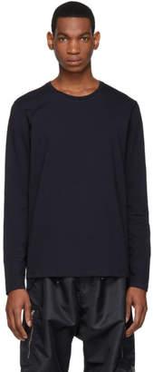 Jil Sander Navy Cotton Long Sleeve T-Shirt