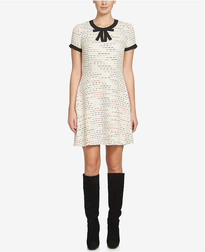 CeCe Chloe Tweed A-Line Dress