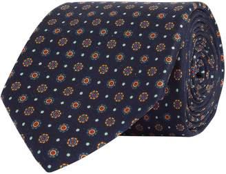 Turnbull & Asser Mosaic Floral Silk Tie