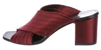 Pedro Garcia Satin Slide Sandals
