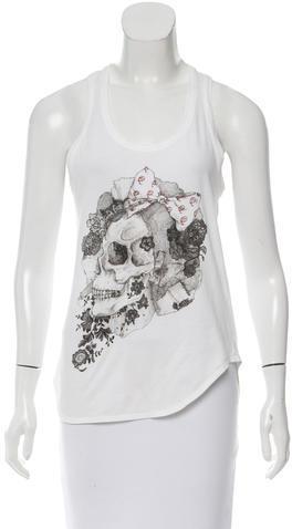 Alexander McQueenAlexander McQueen Skull Printed Sleeveless Top