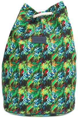 fe-fe tropical print backpack