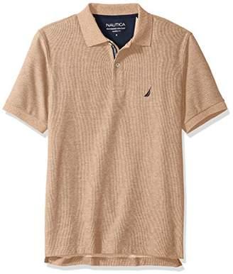 Nautica Men's Classic Short Sleeve Solid Deck Polo Shirt