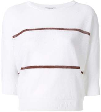 Peserico contrast stripe jumper