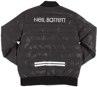 Neil Barrett Nylon Down Bomber Jacket
