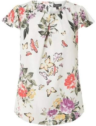Dorothy Perkins Womens **Billie & Blossom Curve Ivory Floral Shell Top