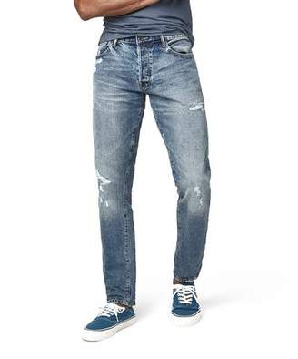 Todd Snyder Japanese Stretch Selvedge Jean in Destroyed Wash