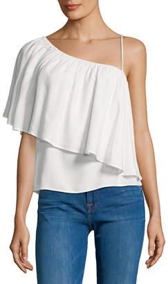 Ella Moss One Shoulder Solid Blouse