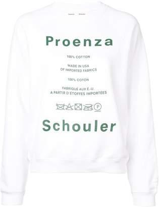 Proenza Schouler logo print sweatshirt