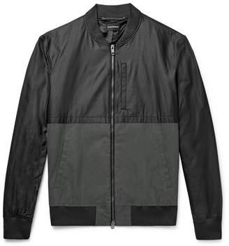 Club Monaco Two-Tone Cotton-Blend Bomber Jacket