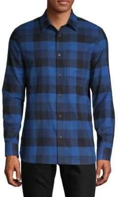 Calvin Klein Checkered Button-Down Shirt