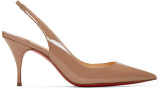 Christian Louboutin Pink Patent Clare Sling Heels