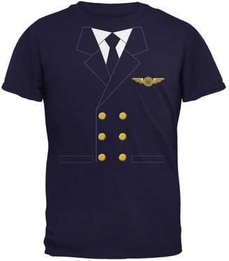 Old Glory Halloween Airline Airplane Pilot Navy Youth T-Shirt - Youth