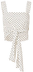 Alexis Sena Dot Tie-Front Crop Top $265 thestylecure.com
