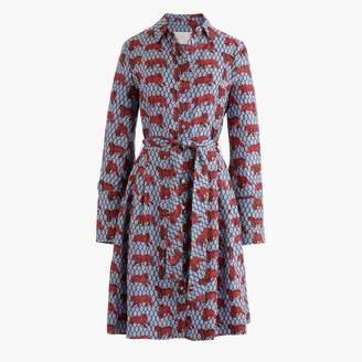 J.Crew Collection silk twill shirtdress in roaming tiger print