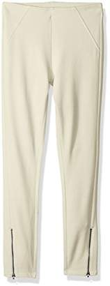 Hue Women's Ankle Zip Simply Stretch Twill Skimmer Leggings,S