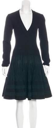 Alaia V-Neck Fit & Flare Dress w/ Tags