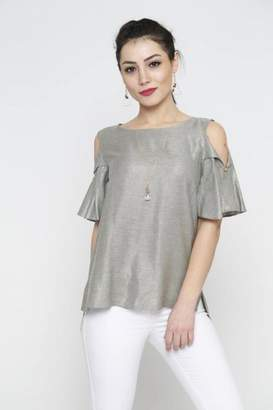 Marvy Fashion Fold-Over Sleeves Top