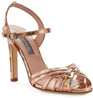 Sarah Jessica Parker Cadence Hologram High-Heel Leather Sandals