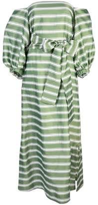 Lisa Marie Fernandez striped off shoulder dress