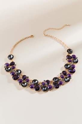 francesca's Reagan Statement Necklace in Purple - Purple