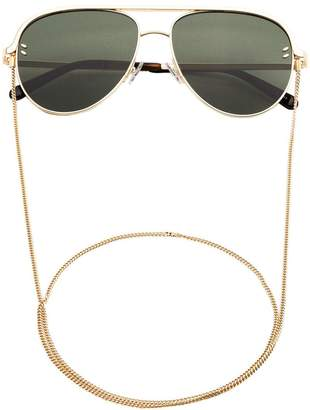 Stella McCartney Eyewear gold frame aviator sunglasses