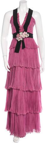 GucciGucci Spring 2016 Silk Chiffon Gown