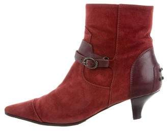 Tod's Suede Pointed-Toe Ankle Boots