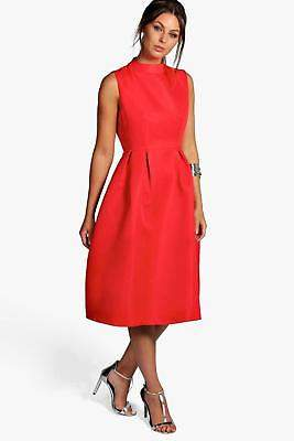 boohoo NEW Womens Boutique High Neck Prom Dress in Polyester